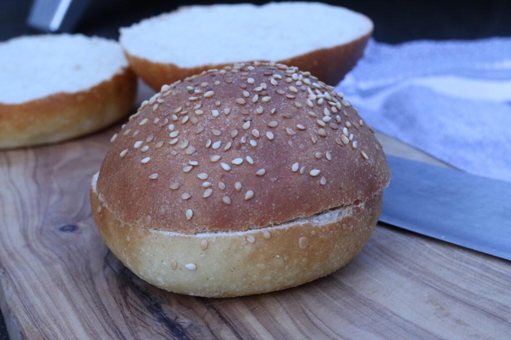 Burger Buns mit Sauerteig - fertig 05