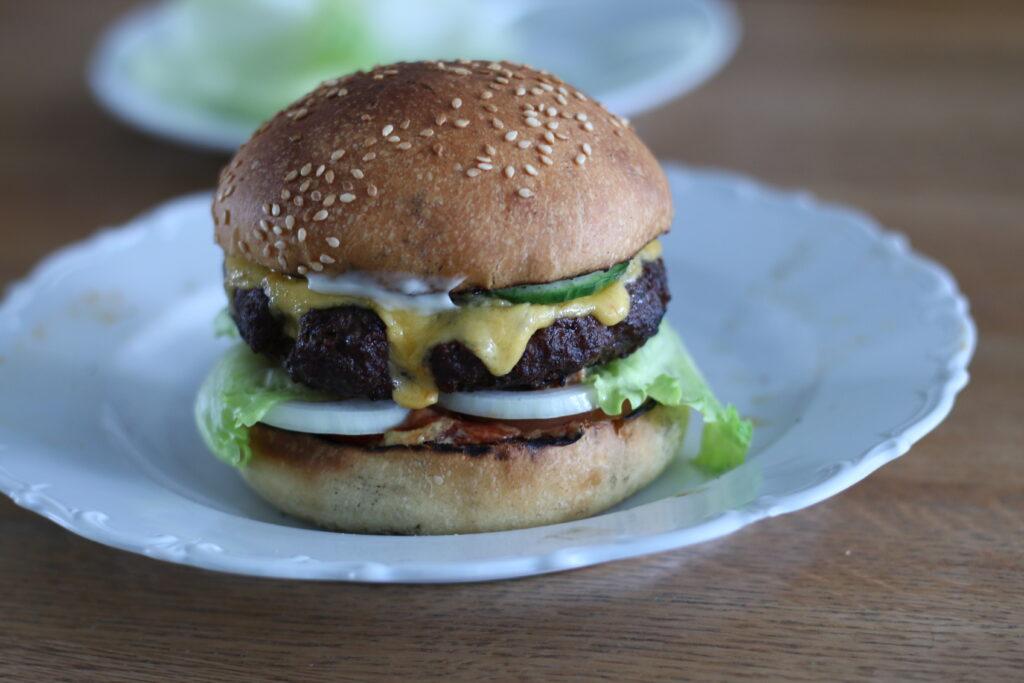 Burger Buns mit Sauerteig - fertig 08